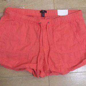 Coral gauzy cotton summer shorts Gap